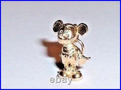 14k YELLOW GOLD 3D DISNEY MICKEY MOUSE PENDANT CHARM
