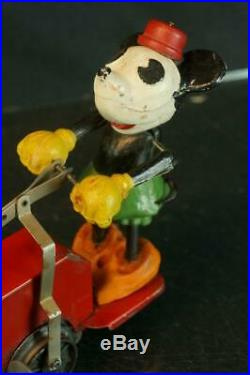 1930's LIONEL PRE WAR WALT DISNEY WIND UP MICKEY MOUSE TRAIN HAND CAR