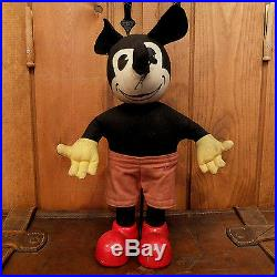 1930s Original Mickey Mouse Early Disney Vintage Antique Doll Figure
