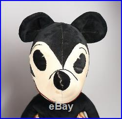 1930s Velveteen 18 Mickey Mouse & 16 Minnie Mouse Stuffed Toy Animals As Is