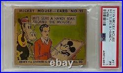 1935 MICKEY MOUSE Gum CARD Type II He's Sure A Handy. #21 WALT DISNEY PSA 1