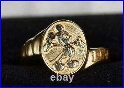 1974 Disney Cast Member 14K Gold Mickey's Ring Size 9