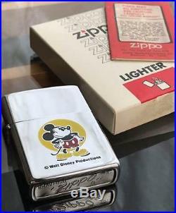 1979 Vintage WALT DISNEY X Zippo Mickey Mouse very Rare