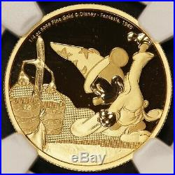 2017 Niue Disney Mickey Mouse Fantasia 1/4 oz Gold Proof Coin NGC PF 70 UCAM