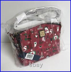 2019 Disney Parks Dooney & Bourke Christmas Holiday Shoulder Bag Crossbody NEW