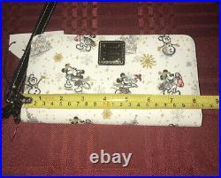 2020 Disney Parks Dooney & Bourke Christmas Holiday Mickey Wristlet Wallet A B