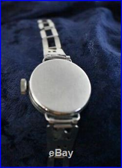2nd Mickey Mouse Watch 1933 Ingersoll Disney With Orignal Box & Metal Band