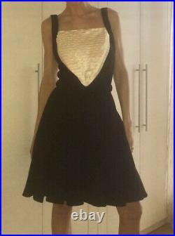 $5,040 Chanel 2007 Vintage Black White Skater Camellia Dress Top 36 38 40 4 6 8