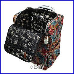 A53. Disney Mickey Mouse 16 Carry-On Wheeled Luggage Travel Bag Suitcase Trolley