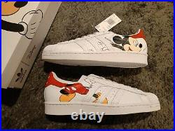 Adidas X Disney Mickey Mouse SUPERSTAR Red White FW2901 Shoes Sneakers Mens 9.5