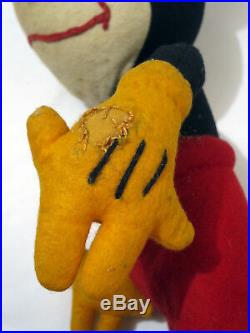 Antique 1930s 17 Mickey Mouse Steiff Plush Figure Large Doll Toy Vintage Disney