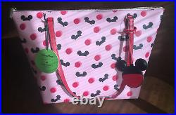 BNWT Disney Parks Kate Spade New York Mickey Mouse Ear Hat Tote Bag Purse Pink