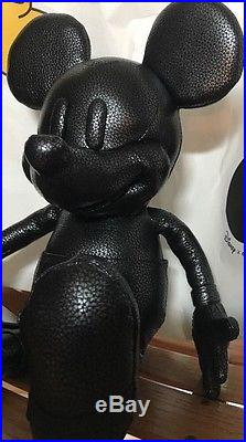 Coach x Disney Small Black Pebbled Leather Mickey Mouse Doll Limited Edition