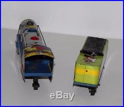 DISNEY1950'sMICKEY MOUSE METEOR TRAIN SET+BELL RINGING &SPARK CAPABILITY+TRACK