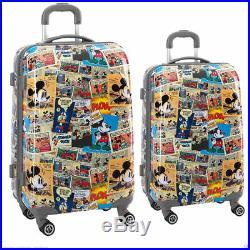 DISNEY Comic Koffer Mickey Mouse 4 DoppelRollen Hartschalenkoffer Kabine Trolley
