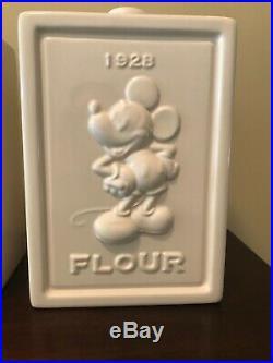 DISNEY MICKEY Mouse 4 pc KITCHEN CANISTER SET Sugar Tea Flour Coffee