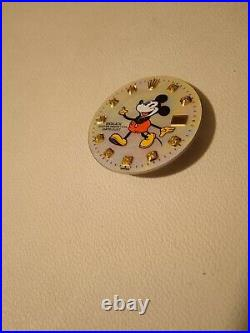Dial Aftermarket Mickey Mouse Gold Indexes For Rolex Date Just 36mm