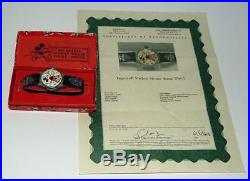 Disney1935 Ingersoll Mickey Mouse Watch+leather Band+serviced+coa+ex! Boxed Set