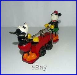 Disney 1934 Working Lionel Mickey Mouse Hand Car+original Box+ 8 Pc. Track+key