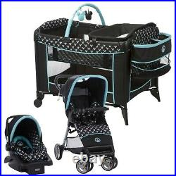 Disney Baby Stroller with Car Seat Travel System Bag Swing Playard Combo Blue