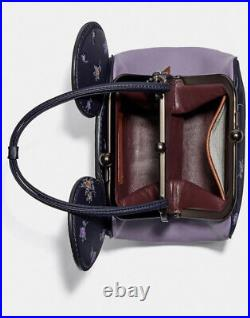 Disney Coach Reserve 76745 Kisslock Bag Floral Minnie Mouse Mickey Ears
