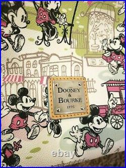 Disney Dooney & Bourke Mickey Minnie Downtown pink Valentines Day bag purse tote