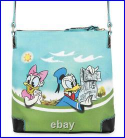 Disney Dooney & Bourke Mickey Mouse & Friends Skyliner Crossbody Purse