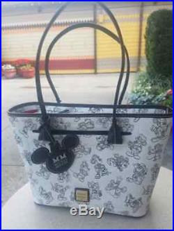 Disney Dooney & Bourke Mickey Mouse Through the Years Anniversary Tote Bag Purse