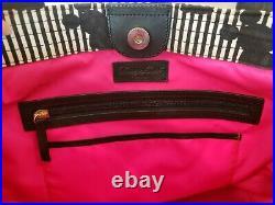 Disney Dooney & Bourke Mickey vintage stripes silhouette black bag purse tote