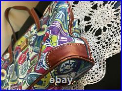 Disney Dooney & Bourke Original Sticker Collage Shopper Purse Bag Hard to Find
