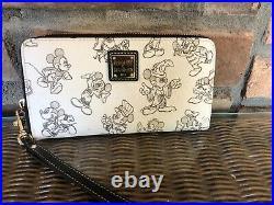 Disney Dooney & Bourke Sketch Mickey Mouse 90th Birthday Wristlet Wallet