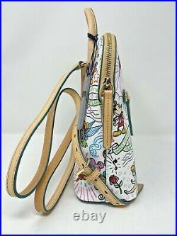 Disney Dooney & and Bourke Sketch Backpack 2021 Mickey Mouse Minnie Castle NWT B