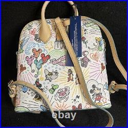Disney Dooney and Bourke Sketch Print Backpack New In Hand