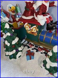 Disney Figur MICKEY MOUSE Disney Parks SANTA TRAIN Weihnachten RARITÄT Limited