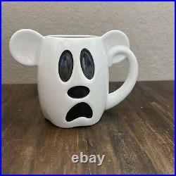 Disney Halloween 2018 Mickey Mouse White Ghost BOO TO YOU Coffee Mug NWOT