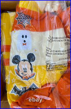 Disney Halloween Candy Corn Cardigan Mickey Minnie Mouse Size S Small In Hand