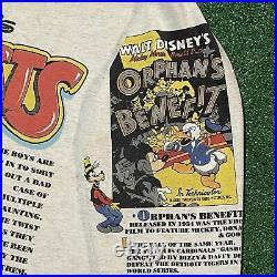 Disney Lonesome Ghosts T Shirt Mens L XL Gray Vintage 90s Mickey Donald Goofy