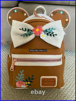 Disney Loungefly Mickey Minnie Mouse Fall Floral Mini Backpack NWT