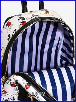 Disney Loungefly Mickey Mouse Allover Print Backpack & ID Card Holder NWT