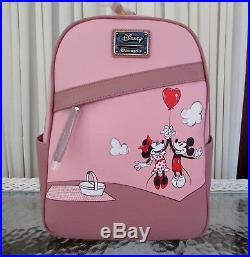 Disney Loungefly Mickey Mouse Minnie Mouse Balloon Mini Backpack Set NWT