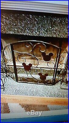 Disney MICKEY MOUSE FIREPLACE SCREEN wrought iron Mickey Heads HTF RARE
