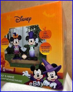 Disney Mickey Minnie Mouse Cauldron 5' ft Halloween Inflatable Lawn Decoration