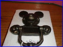 Disney Mickey Mouse Cast Iron Large Door Knocker RARE NEW