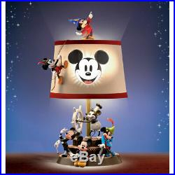 Disney Mickey Mouse Limited Edition Thru the Years Table Lamp Collectible with COA