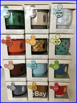 Disney Mickey Mouse Memories STACKABLE MUGS COMPLETE SET 1-12 2018 SOLD OUT NEW