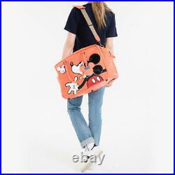 Disney Mickey Mouse Men Women Travel Weekend Duffel Luggage Overnight Orange Bag