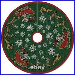 Disney Mickey Mouse Oh, What Fun! Magic Tree Skirt Hallmark Pluto In-stock NIB