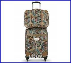 Disney Mickey Mouse Travel Vintage Pattern Multi Men Women Luggage Carry On Bag