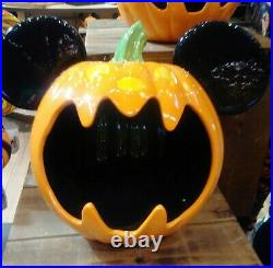 Disney Mickey figure Pumpkin Halloween huge Candy Bowl Ceramic SOLD OUT LAST ONE