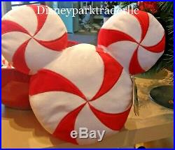 Disney Parks 2019 Scented Peppermint Mickey Mouse Plush Pillow Christmas Holiday